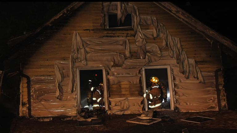 Five children were killed in the blaze. Pic: Scooter Blakely/Erie fire department