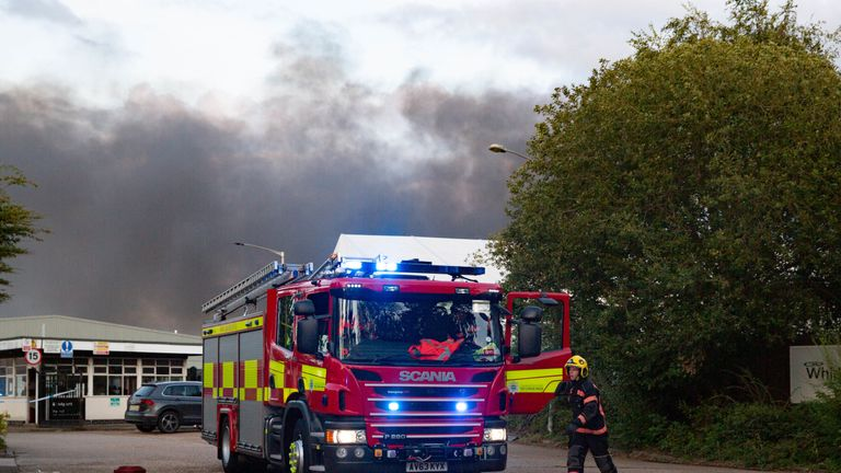 Firefighters have been tackling the blaze. Pic: Terry Harris