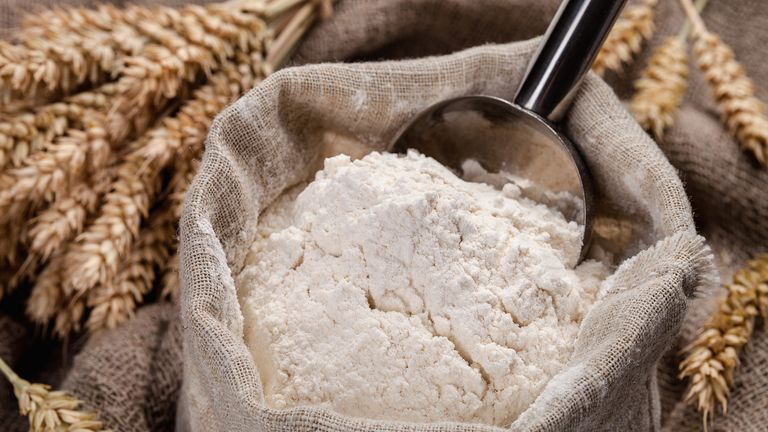 Currently wheat flour is fortified with calcium, iron, and two B vitamins