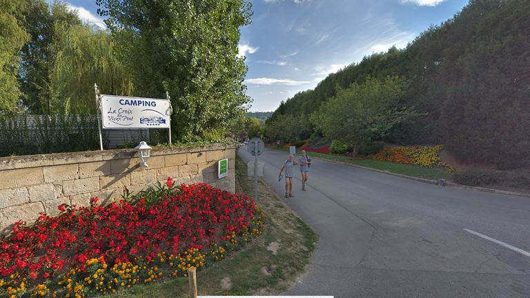 The boy died at La Croix du Vieux-Pont campsite in Berny-Riviere