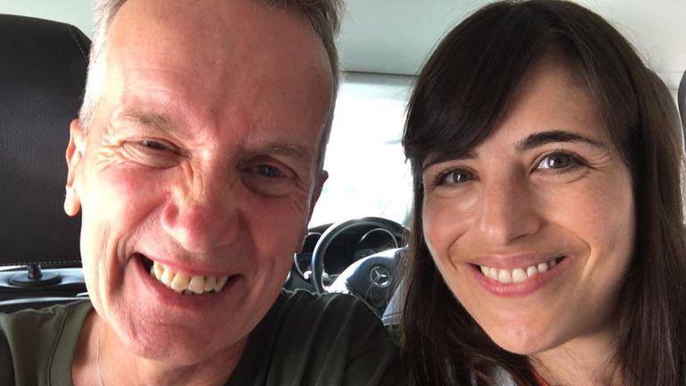 Frank Skinner with Bethany Minelle at the Edinburgh Fringe Festival