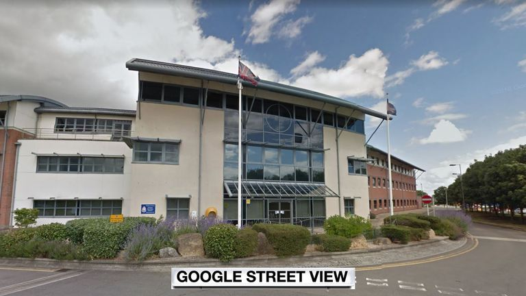 The assault happened at Gablecross police station in Swindon. Pic: Google Street View