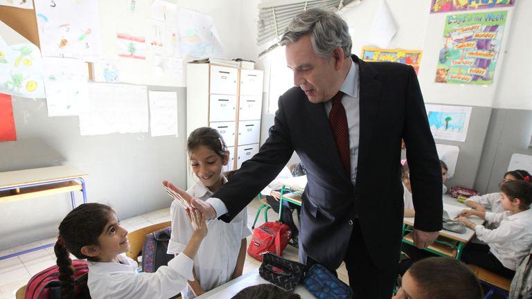 Gordon Brown warns refugees now face 'open hostility'. Pic: Theirworld/UNHCR