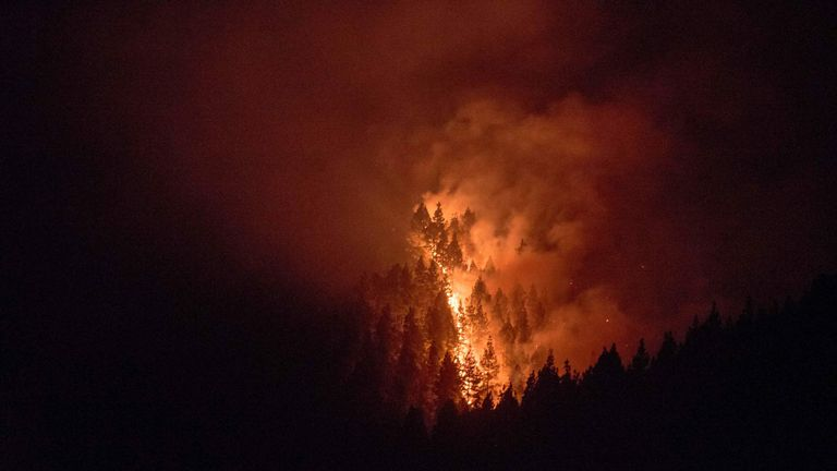 The fires have spread in two different directions, and have burned through 1,700 hectares (4,200 acres)