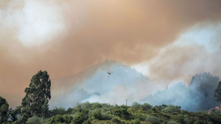 Nine helicopters and two planes are among the fire fighting efforts