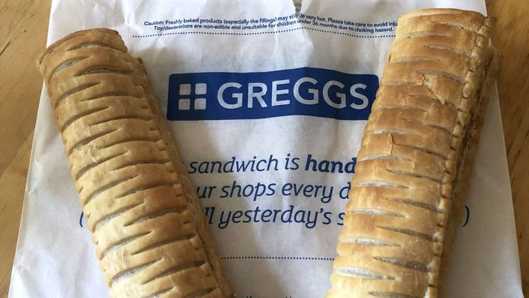 Greggs vegan sausage roll. Pic courtesy of Sean Cocktail