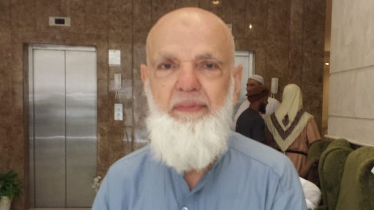 75-year-old Mohammed Asim from Tooting is on his fifth Hajj