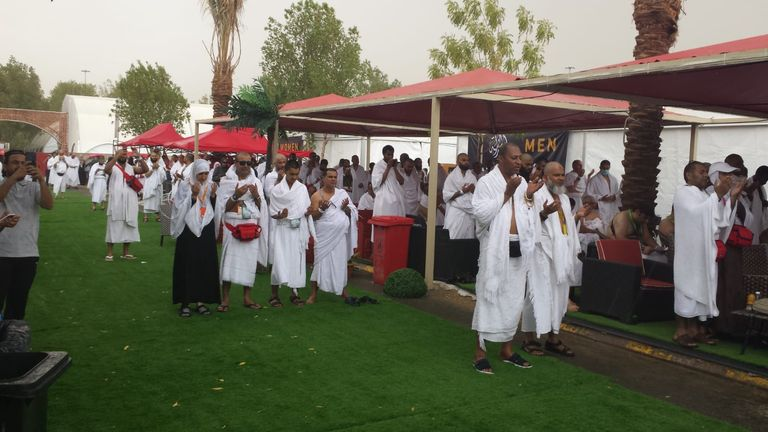 The Hajj involves intense prayer on the plains of Arafat, which this year was interrupted by a thunderstorm