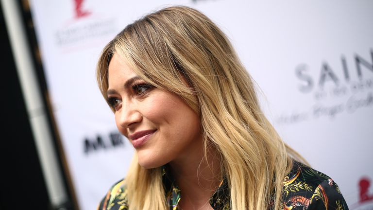 Hilary Duff attends the Launch of SAINT Modern Prayer Candles For A Cause on June 12, 2019 in Beverly Hills, California