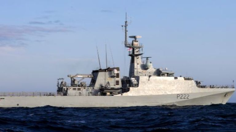 HMS Forth is based in Portsmouth