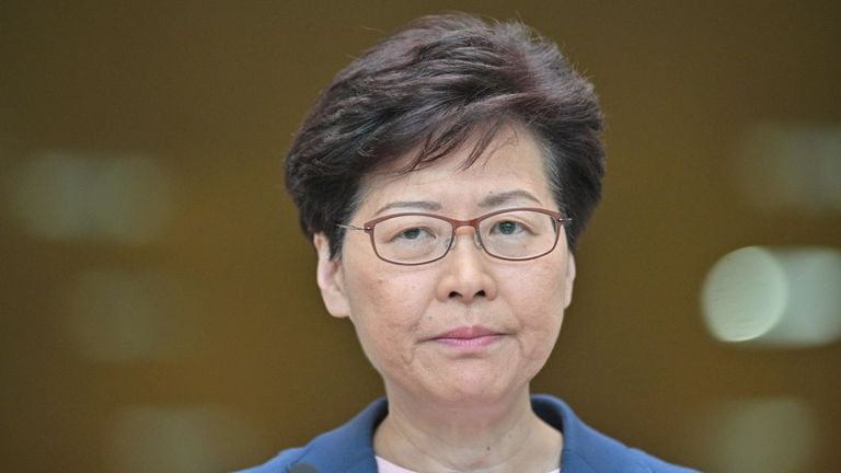 Chief Executive Carrie Lam holds a press conference on 9 July