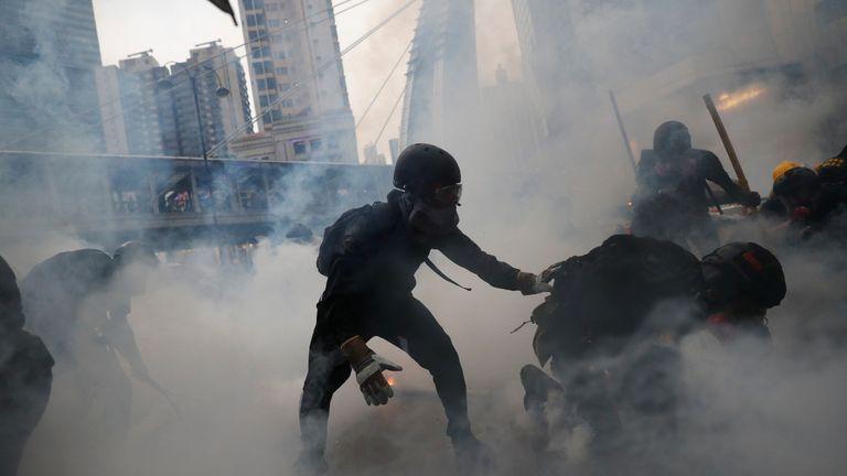 Hong Kong demonstrators