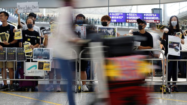 Airport sit-in as Hong Kong protesters kick off latest round of protests
