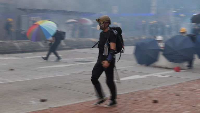 The hardcore of anti-government protesters know how to outflank the police