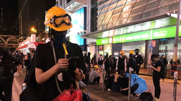 Hong Kong days and nights are now punctuated by thousands of people demonstrating