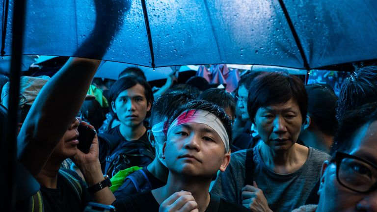 Hong Kong: March of the umbrellas
