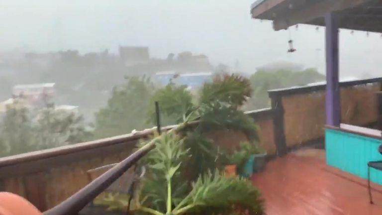 Hurricane Dorian hits US Virgin Islands