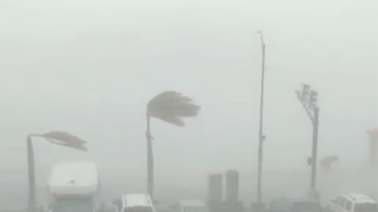 Hurricane Dorian lashed St Thomas in the US Virgin Islands on Wednesday