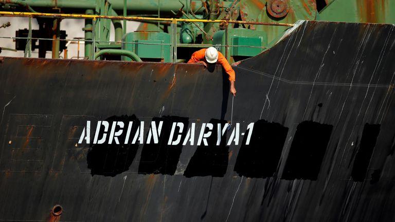 The tanker has been renamed the Adrian Darya-1