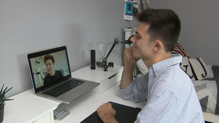 YouTuber Jack Edwards watches back his video on results day