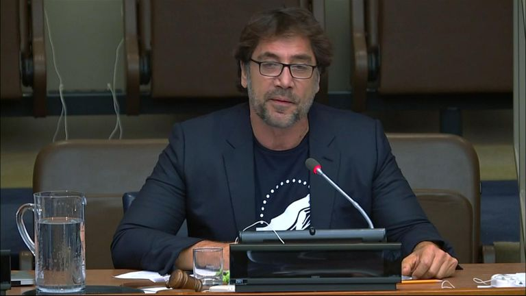 Actor Javier Bardem has urged delegates at the United Nations to create an oceans treaty to protect 30% percent of the world's oceans by 2030.