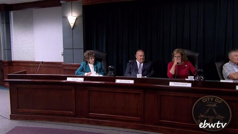 Other candidates at the forum were shocked by Cramer's comments. Pic: EBW.TV