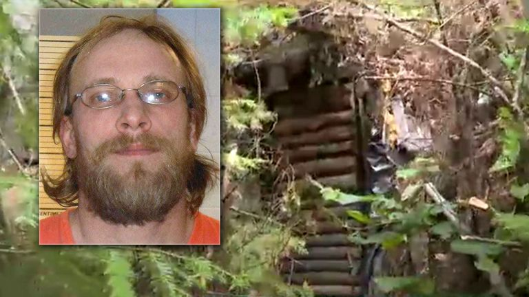Jeremiah Button lived in the bunker for over three years. Pic: WSAW