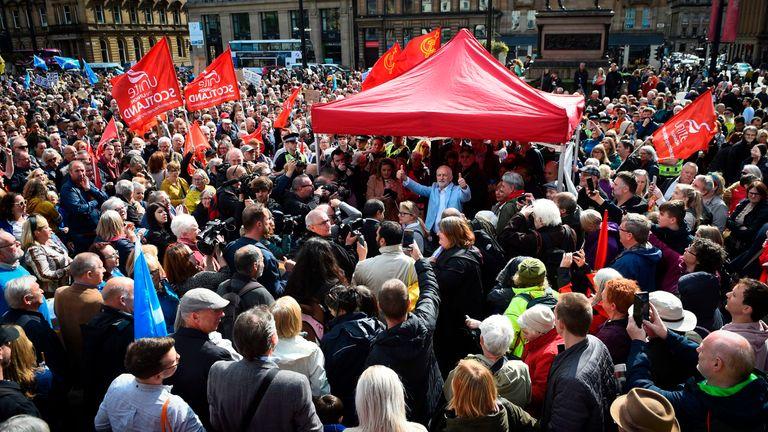 Jeremy Corbyn in Glasgow