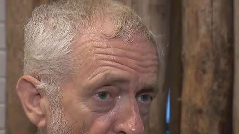 Jeremy Corbyn reacts to news of a police office being killed in Berkshire while on duty