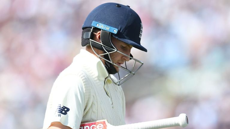It was the second duck in a row for England captain Root