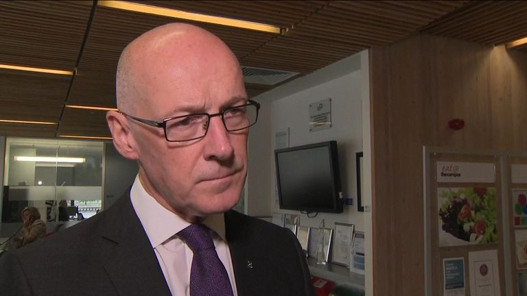 "Mr Swinney said the figures showed the ""strength"" of the SNP's current education policy"