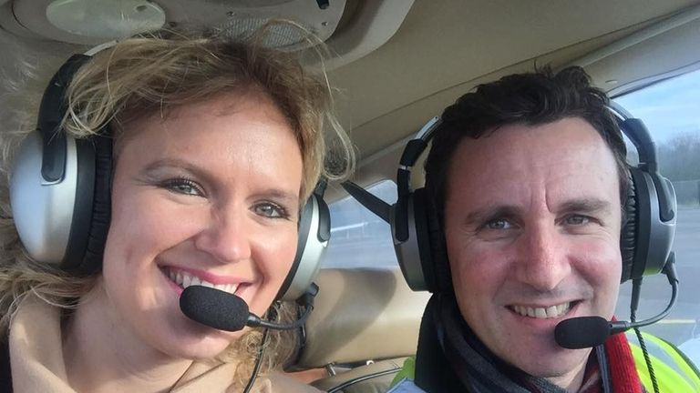 Hannan and Jonathan Goldstein were travelling in the plane with their seven-month-old baby