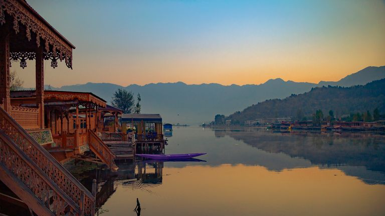Dal Lake in the Kashmir Valley