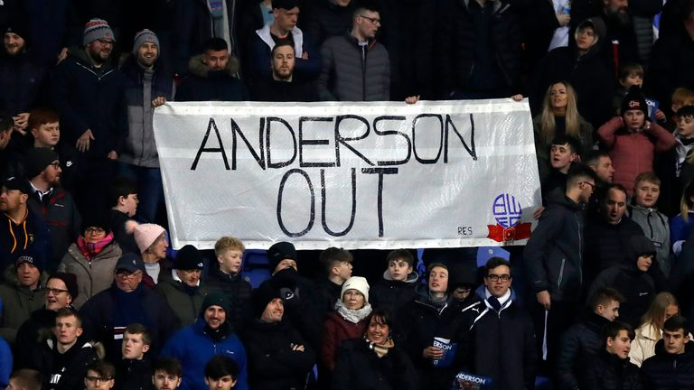 Fans held a protest in the stands against chairman and majority stakeholder Ken Anderson in January