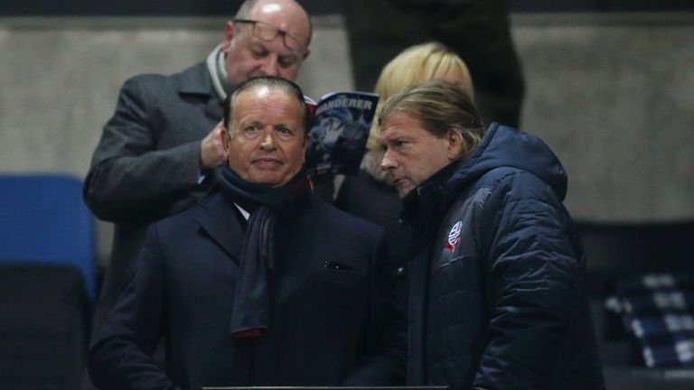 Bolton's chairman Ken Anderson (left) has faced criticism from fans
