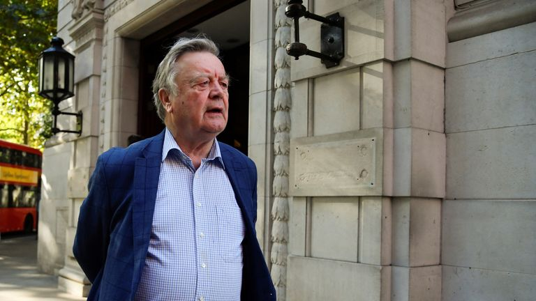 Conservative MP Ken Clarke leaves television and radio studios in London, Britain August 29, 2019. REUTERS/Toby Melville