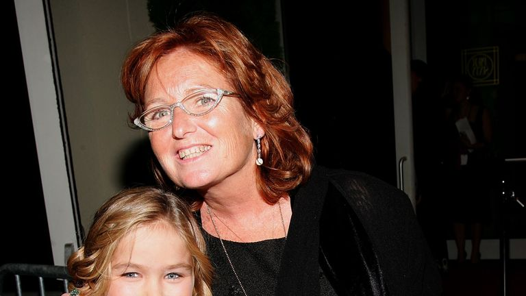 Saoirse Kennedy Hill with her mother Courtney Kennedy Hill in October 2006