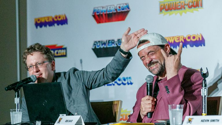 Rob David of Mattel TV and writer and director Kevin Smith delighted He-Man fans at 2019 Power-Con with his announcement of a new anime show coming to Netflix: Masters of the Universe: Revelation