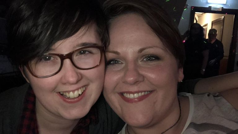 Sara Canning (R) says Lyra McKee was the love of her life