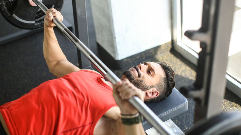 Young men are said to be unconvinced that fruit and veg will help them build muscle at the gym