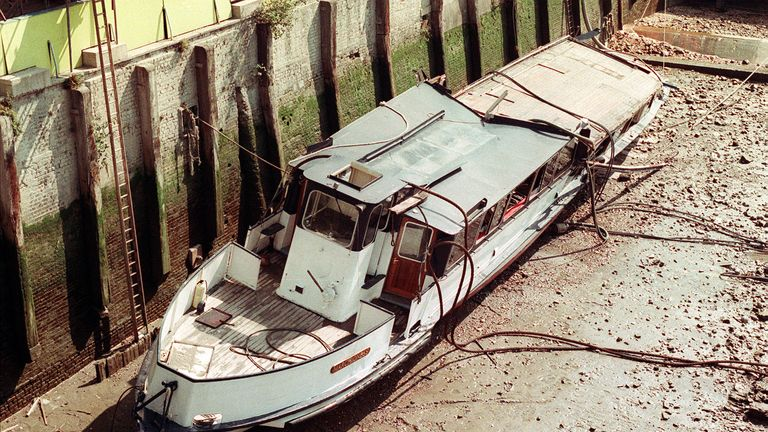 The Marchioness collided with a barge near Southwark Bridge, London, in 1989