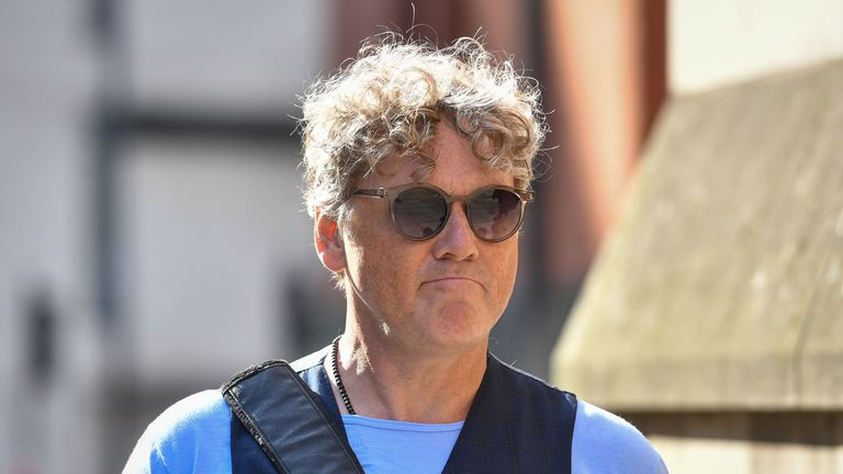 Emmerdale actor Mark Jordon arrives at Manchester Minshull Street Crown Court, where he is charged with assault on a pensioner. PRESS ASSOCIATION Photo. Picture date: Monday August 5, 2019. See PA story COURTS Jordan . Photo credit should read: Jacob King/PA Wire