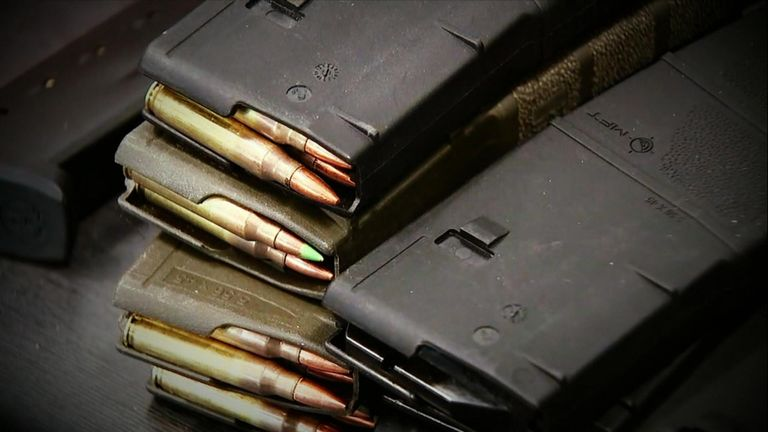 Police said hundreds of rounds of ammunition was discovered at the suspect's home