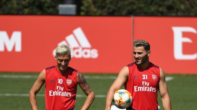 Mesut Ozil and Sead Kolasinac
