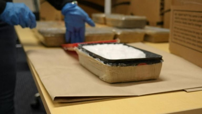 New Zealand police have arrested two British men after finding 200 kilograms of methamphetamine in an Auckland apartment worth around £77.5m.