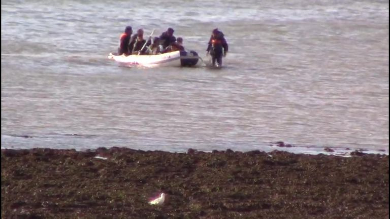 Suspected migrants cross arrive on the south coast