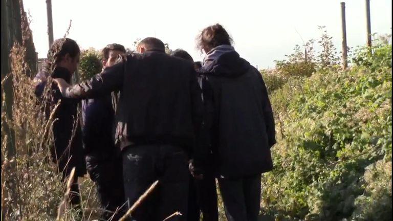 Suspected migrants disembark near Dover