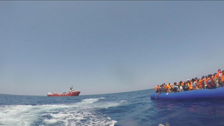 The group were picked up during four rescue efforts off Libya