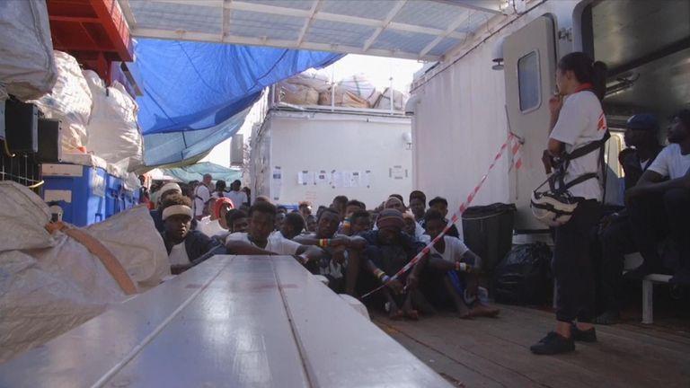 Migrants at Mediterranean