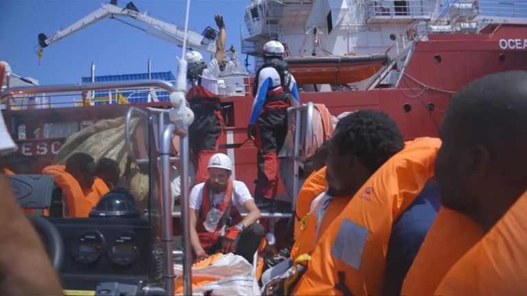 507 migrants have been rescued at Mediterranean Sea
